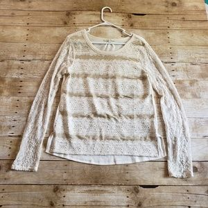 2/$25 Miss Me Lace Long sleeve top